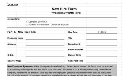 new hire forms template payroll controls and procedures vitalics