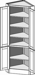 Tall Corner Hutch - The Cabinet Joint