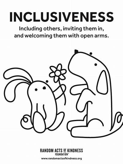 Kindness Coloring Acts Random Pages Printables Posters