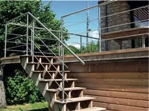 Garde Corps Terrasse Inox : garde corps inox modulaire main courante pour terrasses en bois ~ Melissatoandfro.com Idées de Décoration
