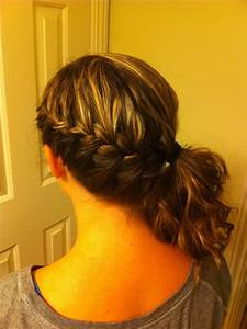 French braid into side ponytail | Hairstyles, Nails, and ...