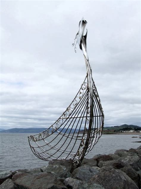 Viking Longboat Description by File Viking Ship Sculpture Largs Geograph Org Uk