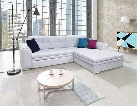 canapé d angle avec coussin canapé d 39 angle convertible en pu blanc