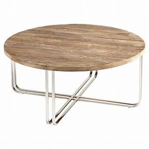 trose rustic industrial wood silver coffee table kathy With wood and silver coffee table