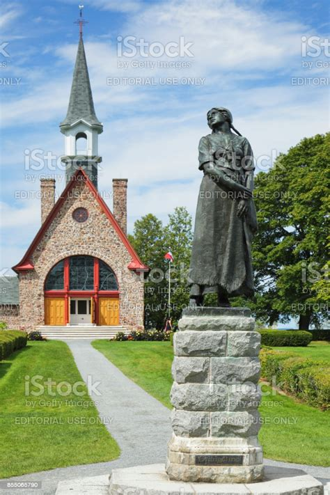 Grand Pre Church Evangeline Statue Nova Scotia Stock Photo