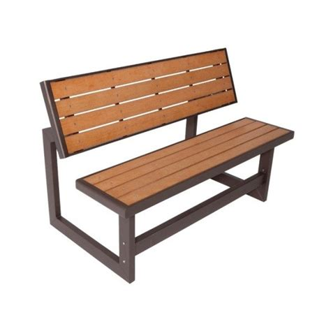 lifetime faux wood convertible bench