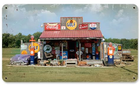 Gulf Gas Station Vintage Metal Sign