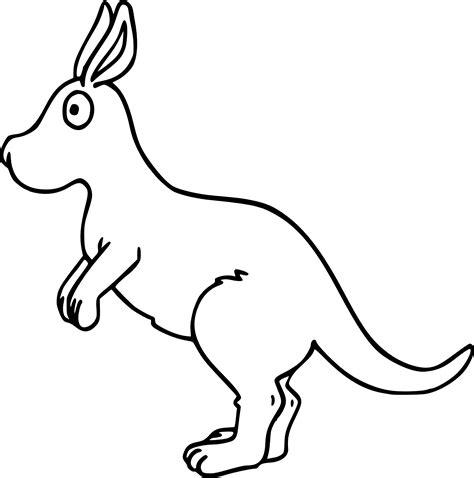 kangaroo drawing coloring page