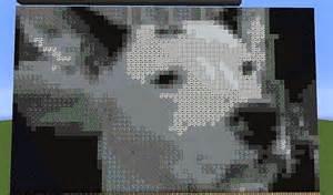 Minecraft Dog Pixel Art