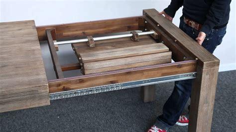 tisch ausziehbar holz massiver esstisch montreal akazie teakgrau weiss gekalkt 180 230cm ausziehbar