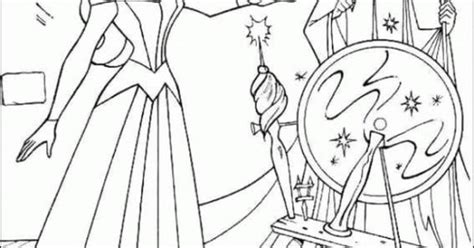 Princess Aurora And Wizards Coloring Pages