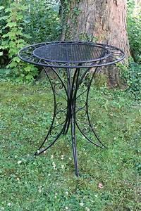 Gartentisch Metall Antik : bistrotisch metall antik stil gartentisch 80cm garten bistro tisch eisen schwarz ebay ~ Watch28wear.com Haus und Dekorationen