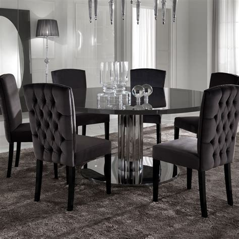 italian dining table sets italian modern designer chrome round dining table