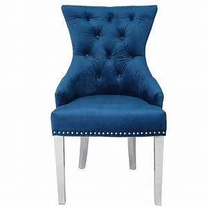Velvet, Tufted, Side, Chair, With, Studded, Detail, U0026, Chro, U2013, Sarru, Home, In, 2020