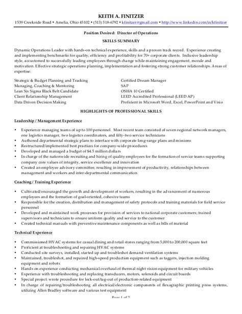 Resume Capabilities by Capabilities For Resume Keith A Finitzer Resume Cover