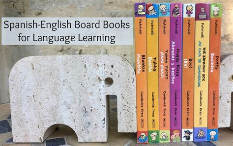 Spanish English Board Books for Language Learners