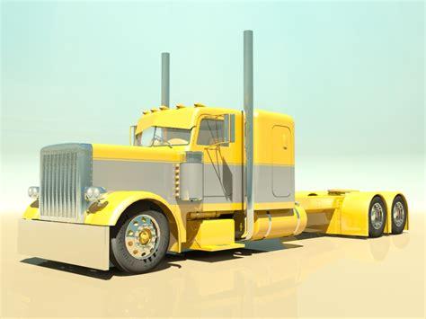 model semi trucks custom semi truck 3d model max obj 3ds fbx cgtrader com