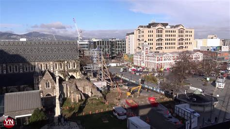 christchurch cathedral finally  rebuild starts youtube