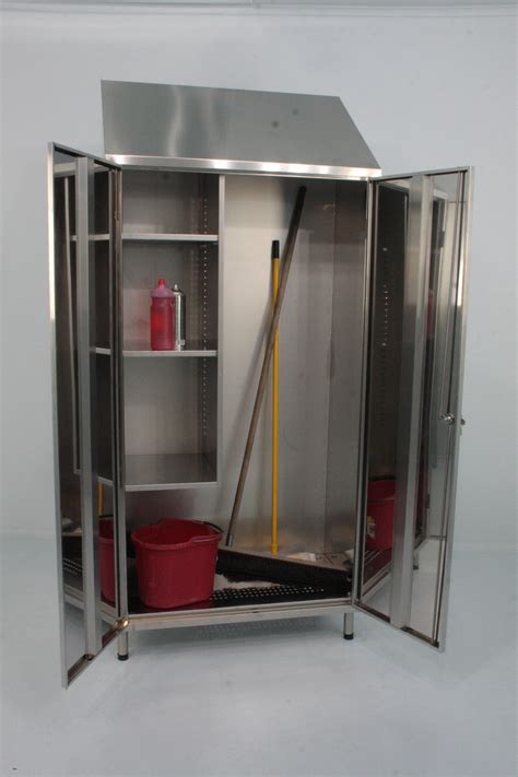 broom and mop cabinet mop storage cabinet mop cupboard by j k stainless