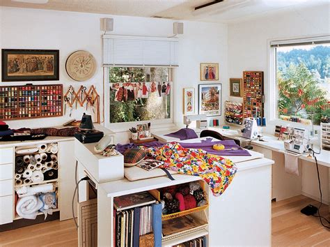 Craft Room Home Studio Setup by Sewing Spaces Sewing Studios Book In 2019