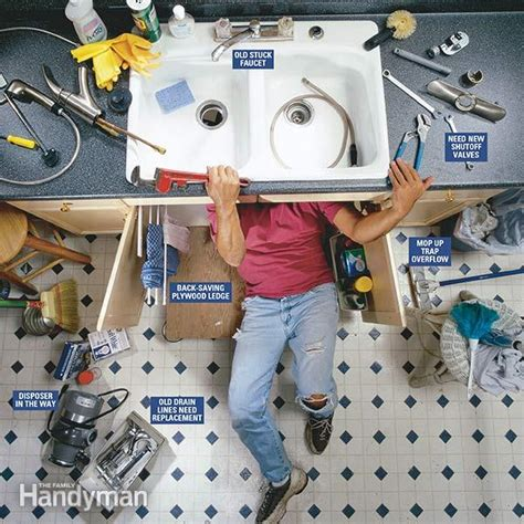 changing a kitchen faucet how to replace a kitchen faucet family handyman