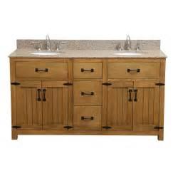 deco 60 inch sink bathroom vanity with golden beige granite top
