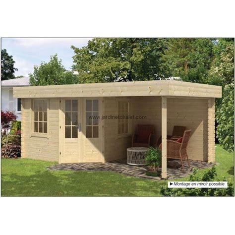 abri jardin toit plat bureau de jardin en kit bois stig