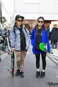 Harajuku Skateboard Girls in Adidas Superstar 2 & Vans ...