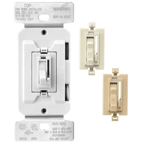 Shop Cooper Wiring Devices Trace Amp White Ivory Light