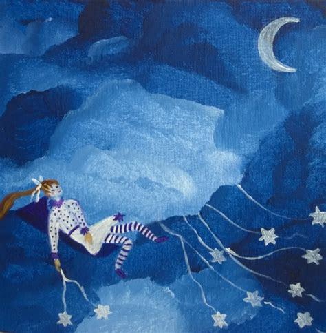 peinture chambre romantique tableau peinture fille toiles ciel toile tendresse