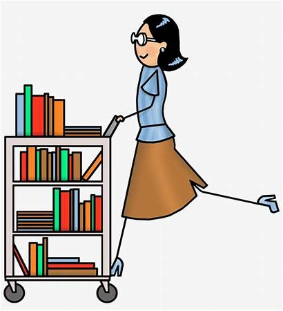 Library Clip Clipart Librarian Cart Transparent Nicepng