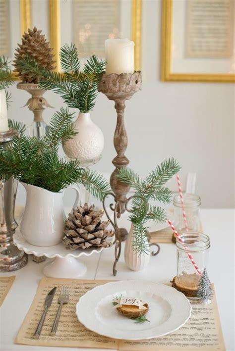 kreative tischdeko zu weihnachten selber machen  ideen