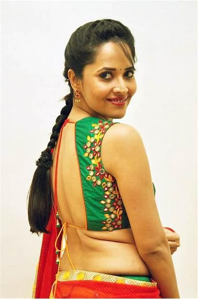 Anasuya Telugu Tv Backless Anchor Saree Film