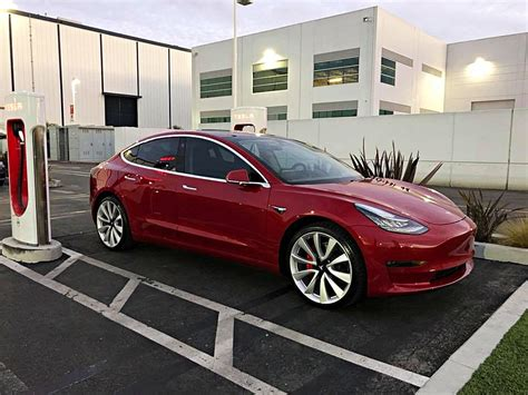 Tesla Model 3 Performance Possibly Spotted Ahead Of Dual