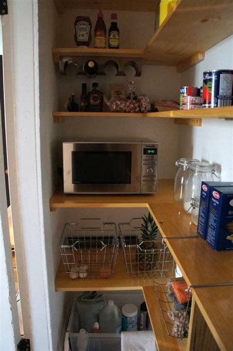 microwave  pantry ideas  pinterest pantry room kitchen pantry  built  microwave