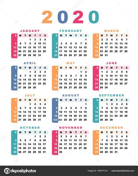 calendario semana comeca domingo ilustracao