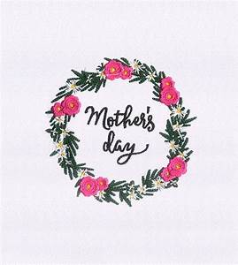 Flowers Garland Mothers Day Embroidery Design | EMBMall