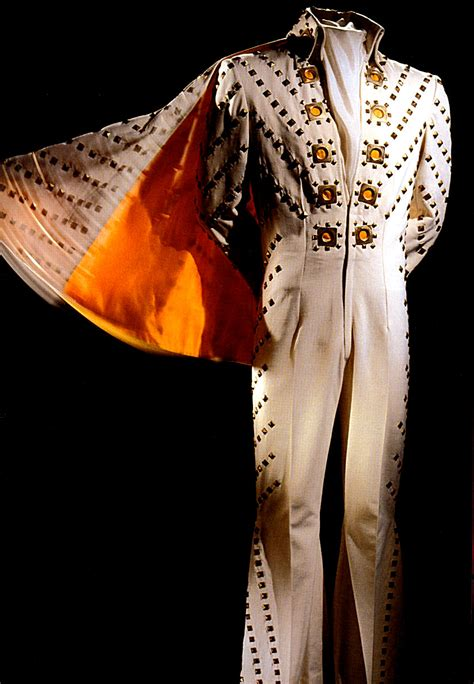white pyramid jumpsuit rex martins elvis moments  time