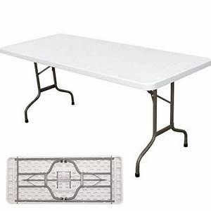 Pied De Table Pliant : table poly thyl ne blanche pieds pliants 180cm harik equipements ~ Teatrodelosmanantiales.com Idées de Décoration
