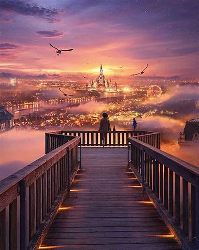 Places Anime Scenery Aesthetic Landscape Disney Nature