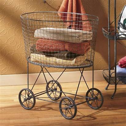 Decor Rustic Laundry Cart Touches Decorating Wire