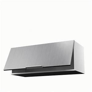 Meuble de cuisine haut décor aluminium 1 porte Stil H 35 x