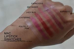 MAC Lipsticks swatches - Indian Darker Skin NC45 ...