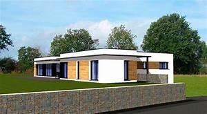 plan maison plain pied moderne bretagne With ordinary photo maison toit plat 9 en pierre moderne toit plat tendance
