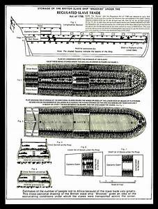 Brookes Slave Ship Middle Passage Stowage Diagram 1788