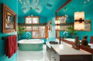 bathroom design colors 25 bathrooms that beat the winter blues with a splash of color