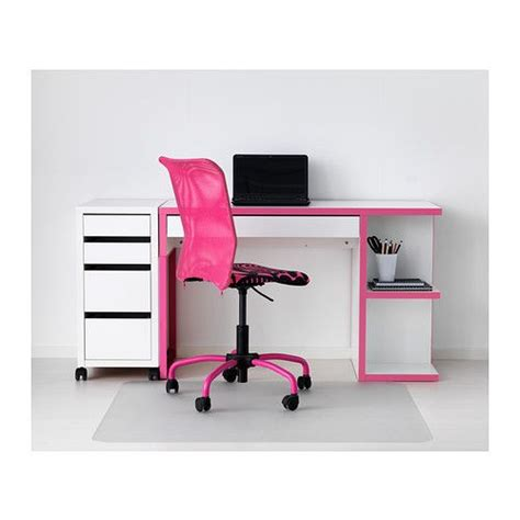 Micke Desk With Integrated Storage White Pink by Micke Desk With Integrated Storage White Pink Ikea