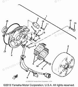 Yamaha Motorcycle 1980 Oem Parts Diagram For Ac Generator