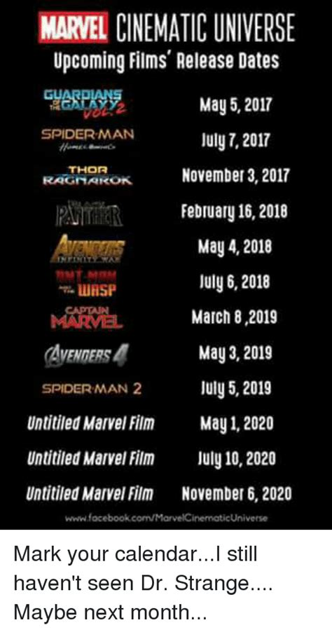 marvel cinematic universe upcoming films release