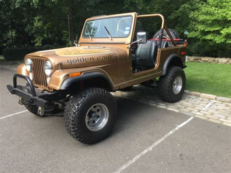 jeep eagle for sale 1980 jeep cj7 golden eagle for sale photos technical